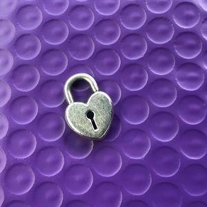 James Avery Retired Heart lock